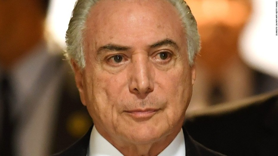 Brazil prosecutors charge President Michel Temer with corruption