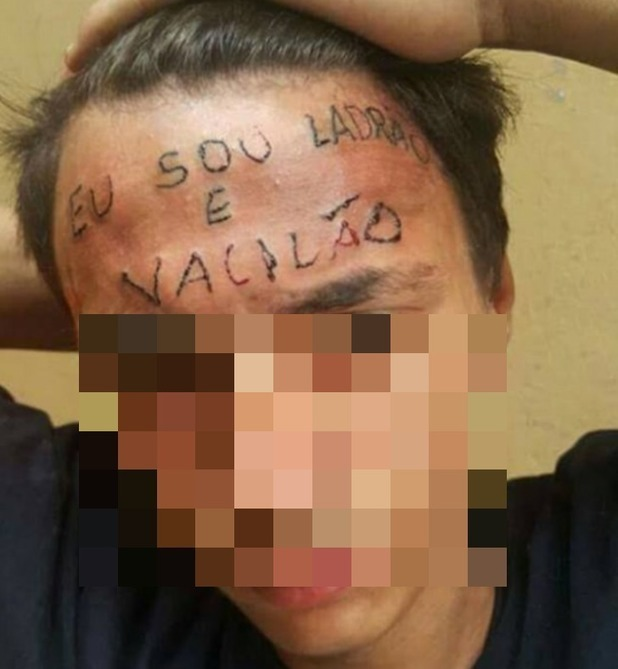 Brazilian men accused of torturing boy by tattooing 'I am a thief' onto forehead