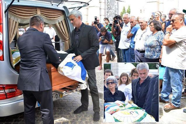 Jose Mourinho attends church with father's coffin ahead of funeral