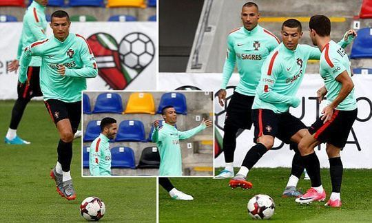 Portugal's Cristiano Ronaldo prepare for World Cup qualifier in Latvia