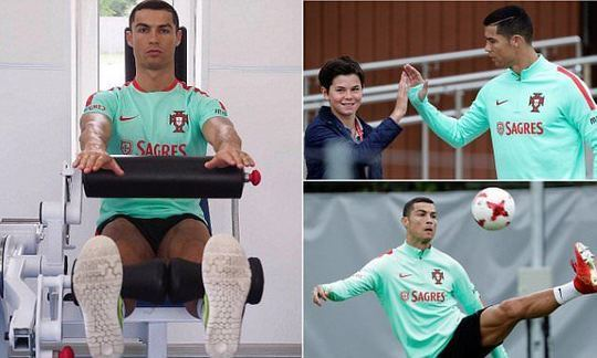 Ronaldo and Portugal train ahead of Chile clash as Silva misses out