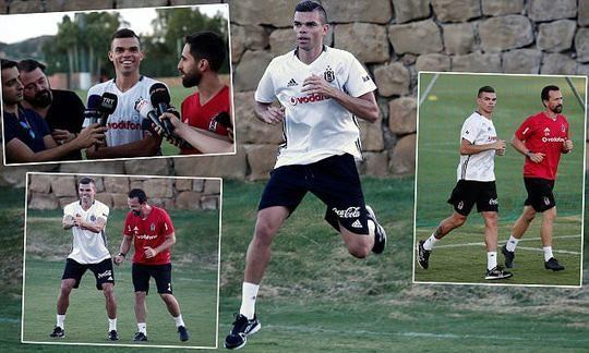 Pepe turns out with Besiktas team-mates for training