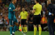 Cristiano Ronaldo faces 12-game ban for pushing referee after red card