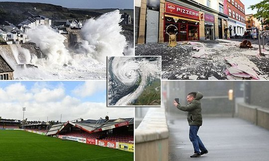 Two dead as Hurricane Ophelia strikes Ireland and UK