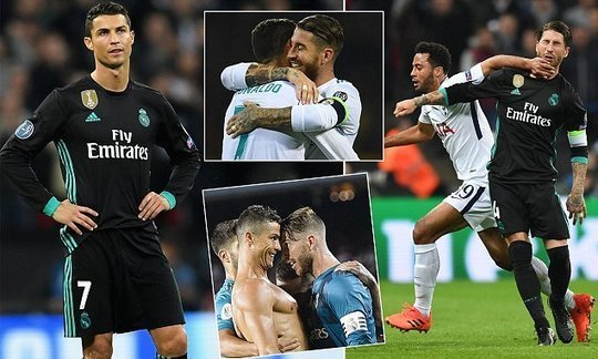 Cristiano Ronaldo and Sergio Ramos fall out as Real Madrid falter