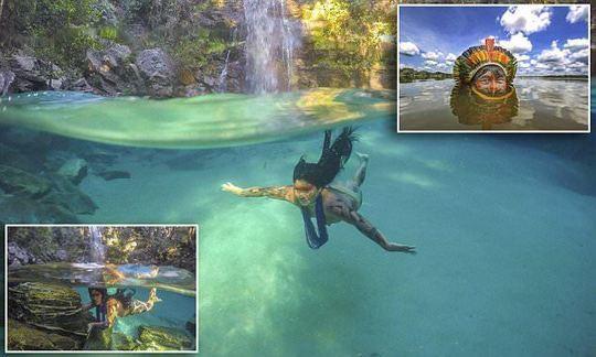 Stunning photos show native Brazilians swimming underwater
