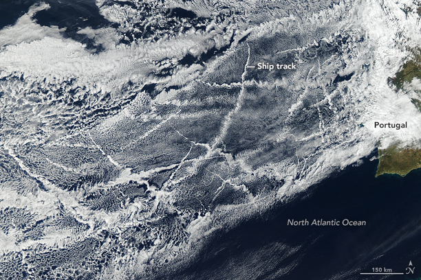 These clouds are called ship tracks | Earth | EarthSky