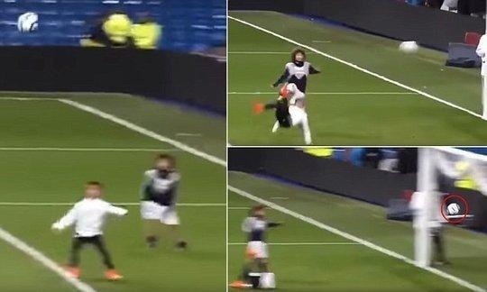 Cristiano Ronaldo Jnr scores stunning overhead kick at Bernabeu | Daily