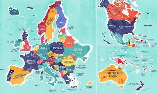 Fascinating maps reveal the literal translations of every country in the world  | Daily
