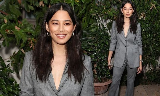 Jessica Gomes goes braless in a plunging blazer in LA | Daily