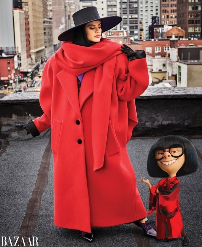 Sara Sampaio | Harper's Bazaar | Incredibles Edna Mode