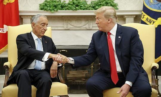 Trump meets president of Portugal at White House | Daily