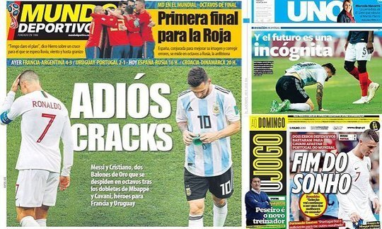 'End of the dream': Papers react to Messi and Ronaldo crashing out | Daily