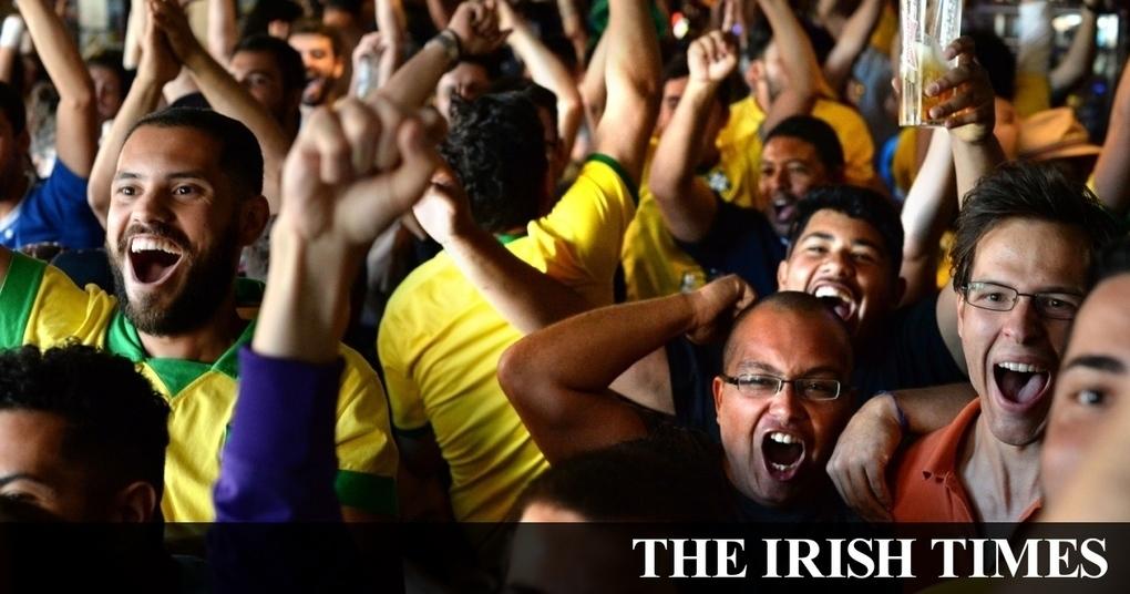 Spirits high as Brazilian fans toast Neymar and Co