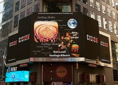 The Art of Santiago Ribeiro Exhibited in Times Square - WhatTheyThink