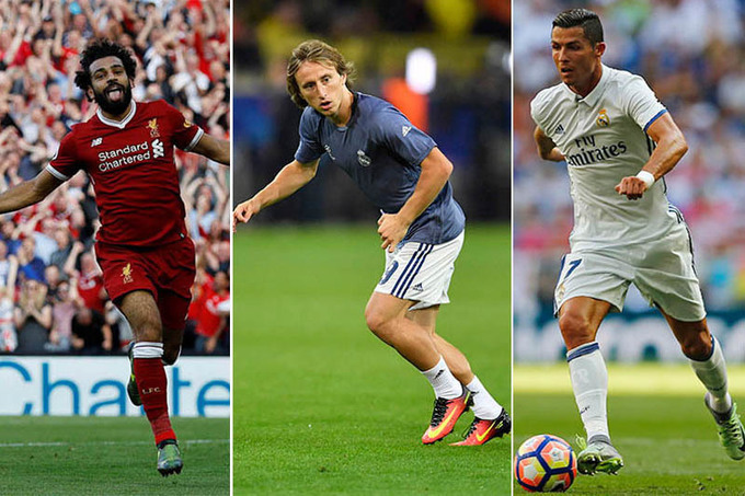 Ronaldo, Modric, Salah on UEFA player of the year shortlist