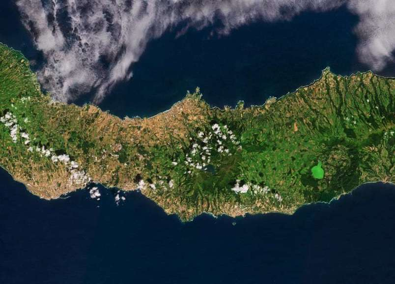 Earth from Space - São Miguel, Azores - SpaceRef