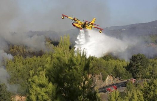 700 firefighters in Portugal battle wildfire west of Lisbon   Inquirer News