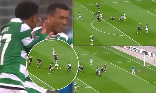 Ex-Manchester United forward Nani scores incredible solo goal for Sporting Lisbon  | Daily