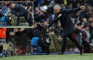 Jose Mourinho throws crate of drinks bottles to the floor in incredible celebration | Daily