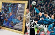 Cristiano Ronaldo given artwork of his overhead kick against Juventus made of Swarovski crystals | Daily