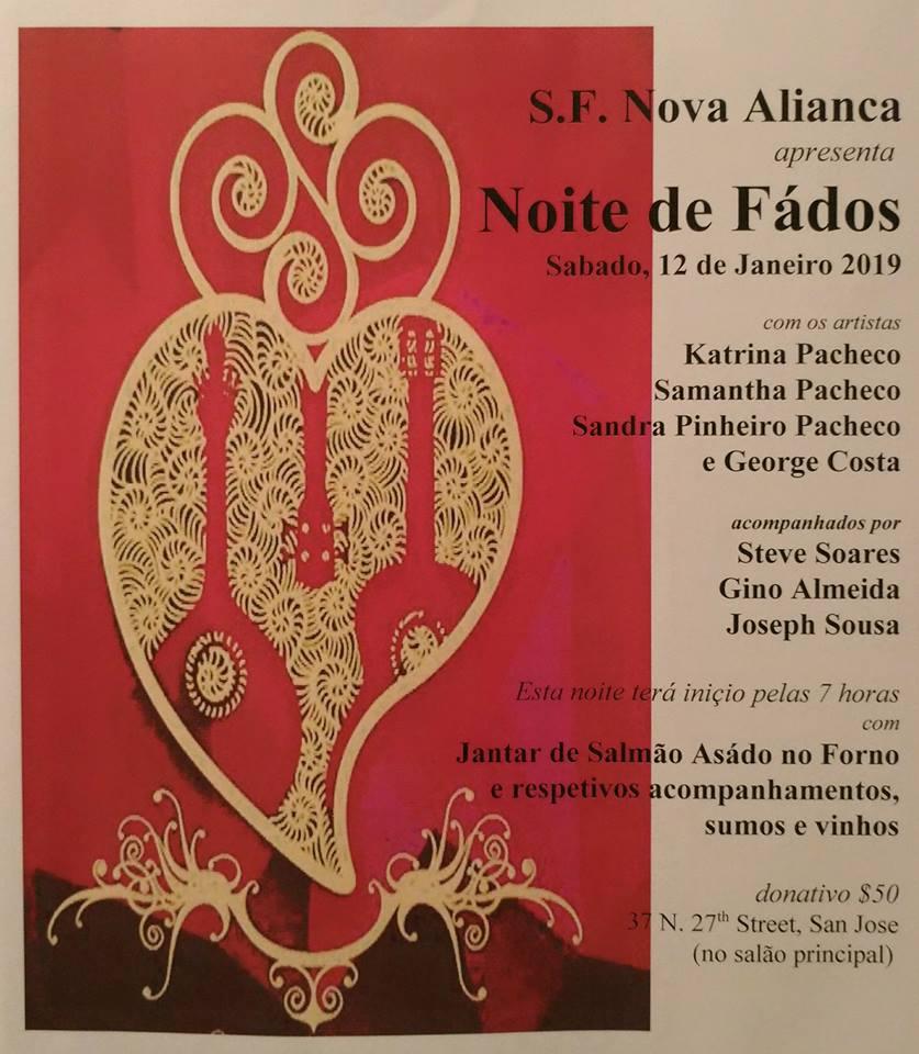 Noite de Fados - S.F. Nova Aliança - San Jose 2019!