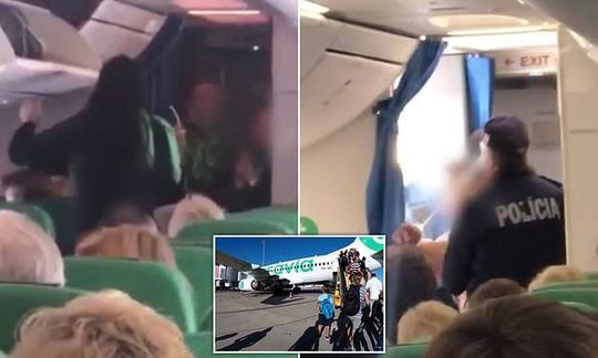 Drunk and abusive Brit restrained by passengers after pilot appeals to 'cops or soldiers' for help | Daily