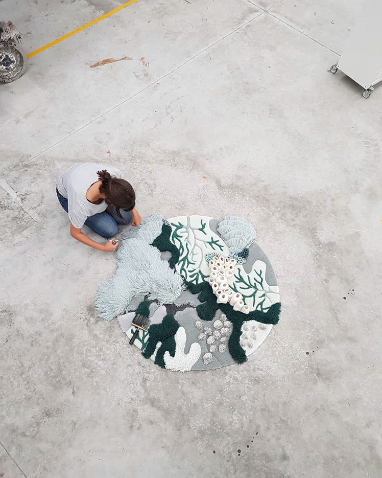 This Portuguese Artist Uses Textile Waste To Create Beautiful Ocean Inspired Tapestry