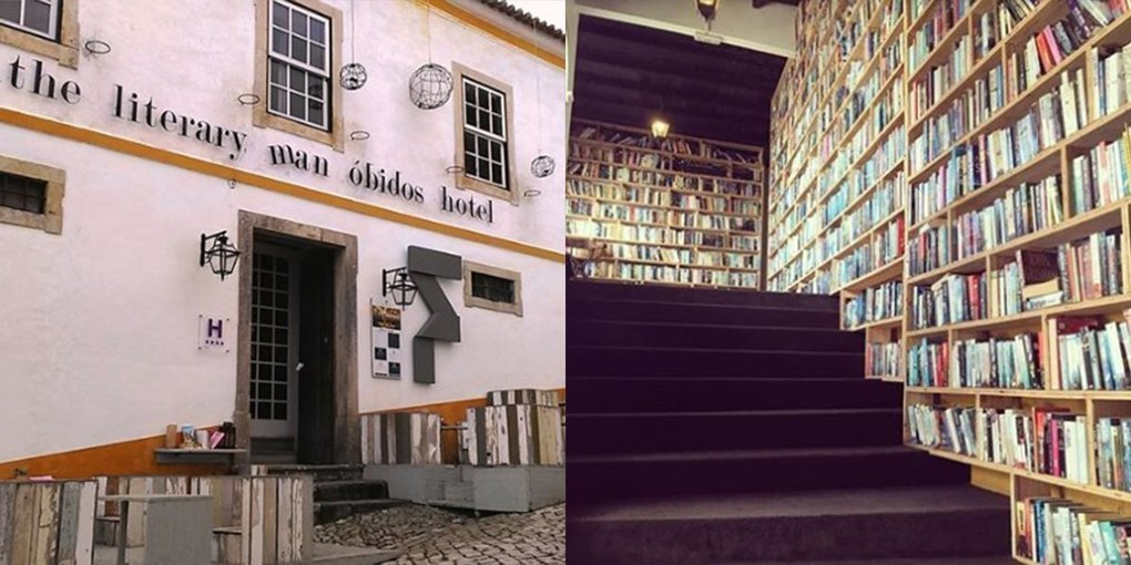 Lavish Hotel in Portugal Also Doubles As A Library With 50,000 Books