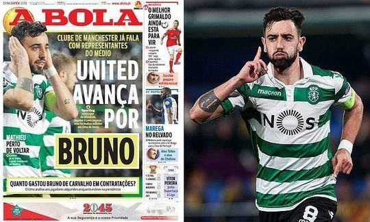 Manchester United 'make contact' with agents of Sporting Lisbon's Bruno Fernandes | Daily