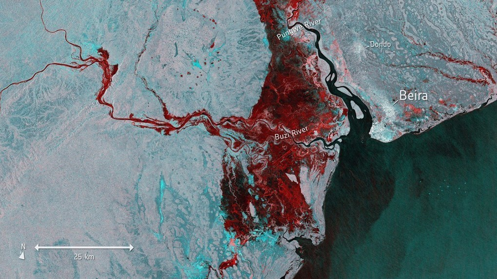 Mozambique floods cover more ground than NYC, Chicago, D.C., and Boston — combined