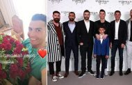 Raul Meireles' oversized jacket steals show at opening of Cristiano Ronaldo's hair transplant clinic | Daily