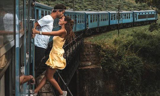 Explorerssaurus Couple Slammed for Taking a Photo Hanging Out of a Moving Train Sri Lanka | Daily