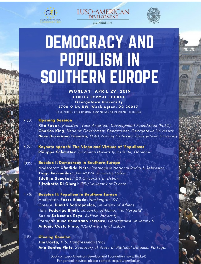Democracy and Populism in Southern Europe - Georgetown University