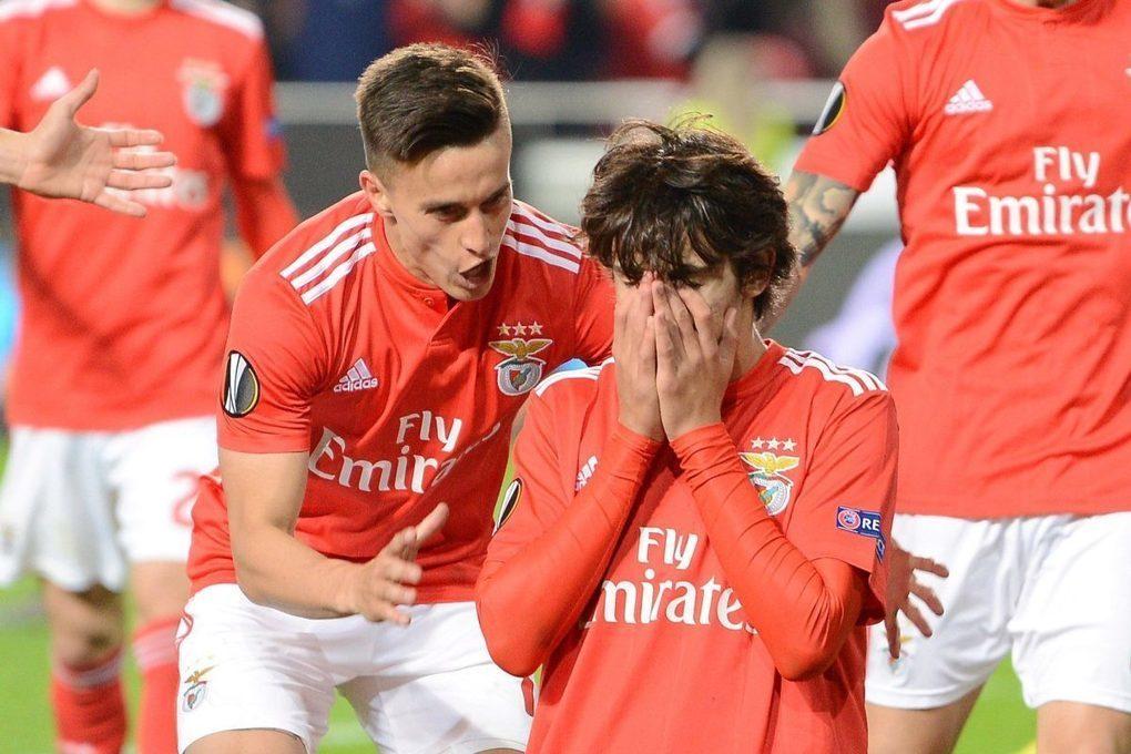 Man Utd target Joao Felix bags hat-trick for Benfica as ten-man Frankfurt blow Europa League chances