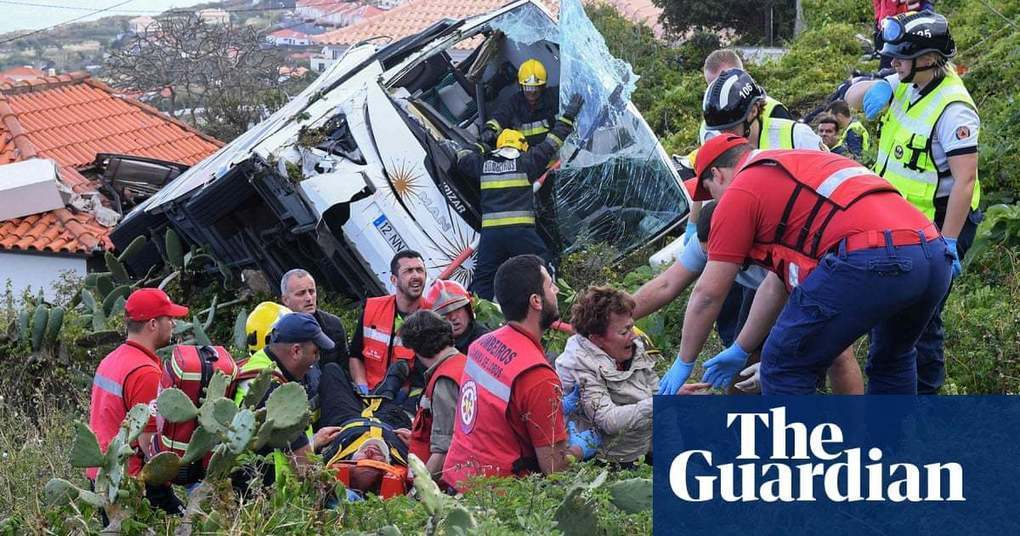 Portugal crash: at least 28 killed on tourist bus in Madeira | World news | The Guardian