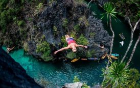 Red Bull Cliff Diving World Series: Competitors battle dizzying heights in - Azores, Portugal