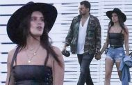 Sara Sampaio gives leggy display in skimpy denim cut-offs and leather top heading into Coachella | Daily