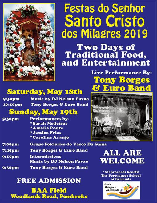 Community To Celebrate Santo Cristo dos Milagres Portuguese Festival 2019 - Bermuda -