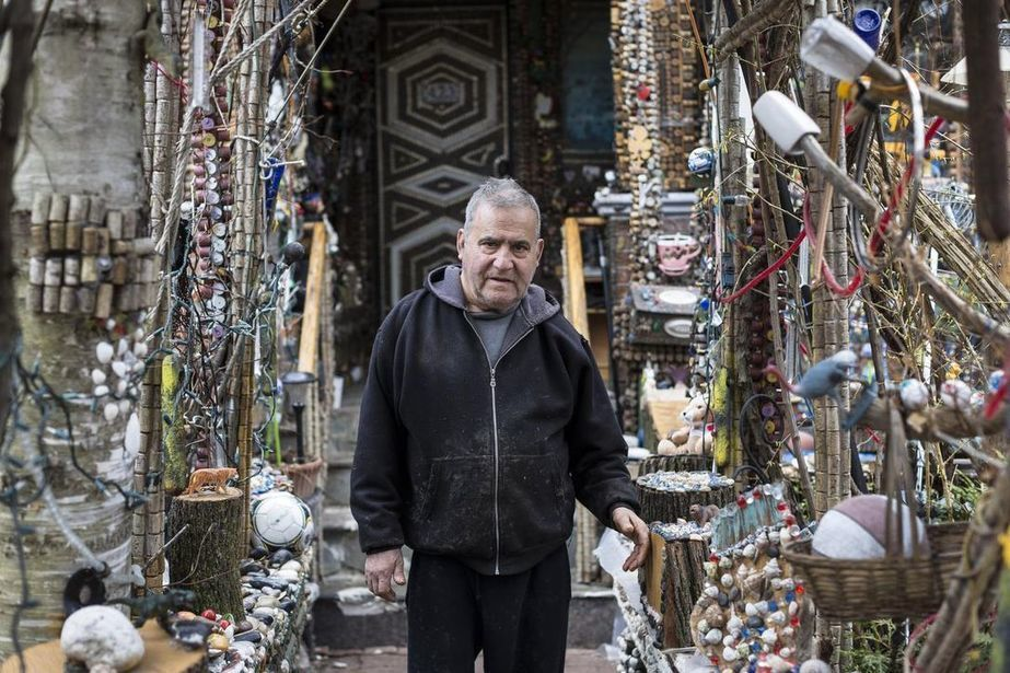 He drives a van covered in plastic bugs. And he's made Toronto's most eccentric garden his life's work | The Star