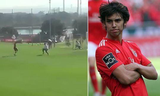 Benfica wonderkid Joao Felix scores outrageous training ground goal | Daily