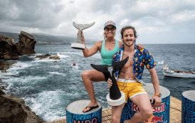 Gary Hunt, Rhiannan Iffland Remain Victorious in Portugal Leg of 2019 Red Bull Cliff Diving World Series