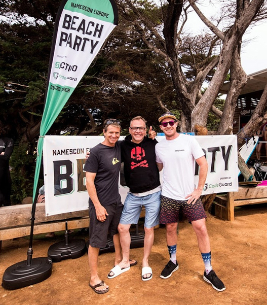 Photos & Highlights from NamesCon Europe 2019's Show Closing Beach Party in Portugal -