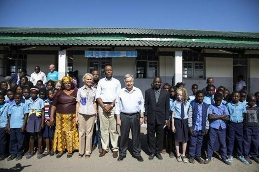 UN chief makes climate change plea in cyclone-hit Mozambique