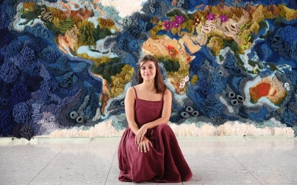 Portuguese Textile Artist Creates Gorgeous Handwoven World Map Tapestry Using Techniques of Her Ancestors -