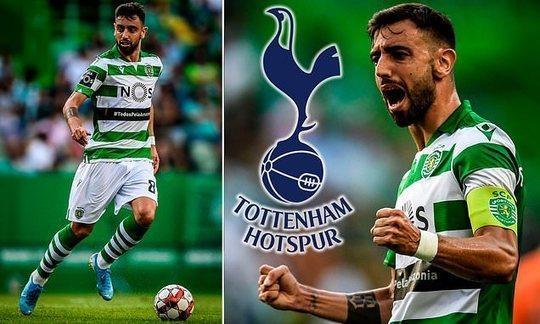 Sporting Lisbon president criticises Tottenham after they put 'success bonus' in Bruno Fernandesbid | Daily -