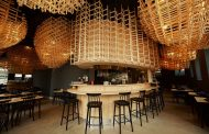 Egg-Shaped Wooden Trellises Hang from the Ceiling of Lisbon Ramen Restaurant |