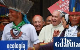 Pope: indigenous people's feathered headgear no sillier than Vatican hats | World news | The Guardian -