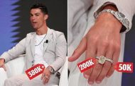 Cristiano Ronaldo drips in diamonds at Dubai sports conference | Daily -