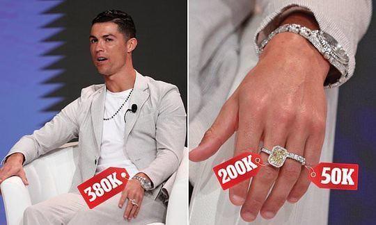 Cristiano Ronaldo drips in diamonds at Dubai sports conference   Daily -